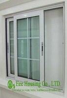 Aluminum Glass Sliding Window For Villa Projects Aluminum Profile Sliding Windows With Grilled Design Horizontal Sliding