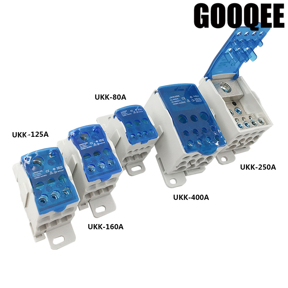 UKK80A 125A 160A 250A 400A 500A Terminal Block 1 in many Out Din Rail distribution Box Universal Electric Wire Connector ибрагимбеков м пусть он останется с нами