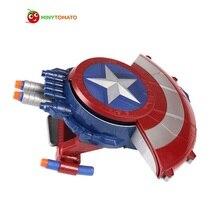 Free Shipping Super Hero A Captain America Shield Launcher Shoot Gun PVC Action Figures Toys For Children