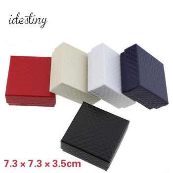 11.11 top paper jewelry boxes wholesale Jewelry display for necklace earrings jewellery box packaging with size 7.3*7.3*3.5cm