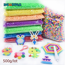 DOLLRYGA 6000pcs/bag Aquarium Bead Perlen Transparent Color Solid Beads Water Spray Magical Gift For Children Art And Craft