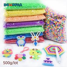 DOLLRYGA 6000pcs/bag Aquarium Bead Perlen Transparent Color Solid Beads Water Spray Magical Bead Gift For Children Art And Craft