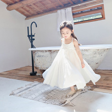 1278c65c7faf0 2018 Summer New Baby Girls Clothes Cotton Overall Dress Elegant Sleeveless  Beach Wedding Prom Party Kids Children Sundress
