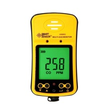 AS8903 Portable High Sensitive CO Gas Sensor Monitor LCD Display 2 in 1 Carbon Monoxide / Hydrogen Sulfide Detector