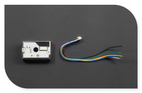 Sharp gp2y1010au0f compact optical poeira/sensor de partículas de fumaça módulo compatível com arduino para p2.5m monitor de qualidade do ar etc.