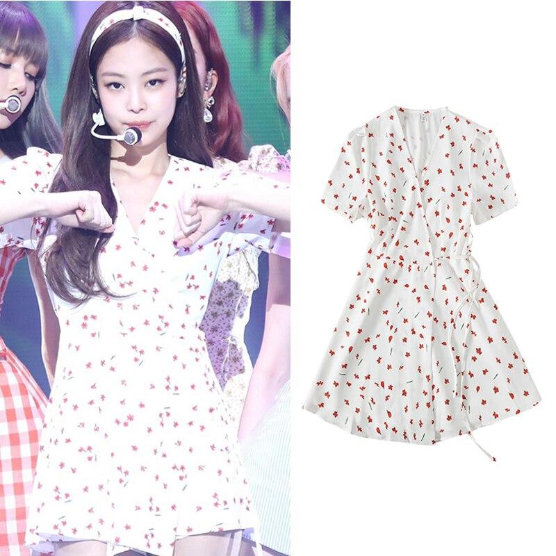 Verano Moda Kpop Y Vestido Blackpink Fresco Dulce De Jennie hCsQtrdx
