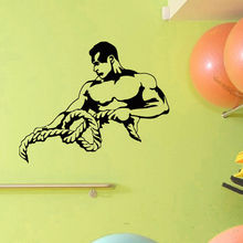 WALL DECAL VINYL STICKER SPORT GYM FITNESS BODY BUILDING BODYBUILDER DECOR