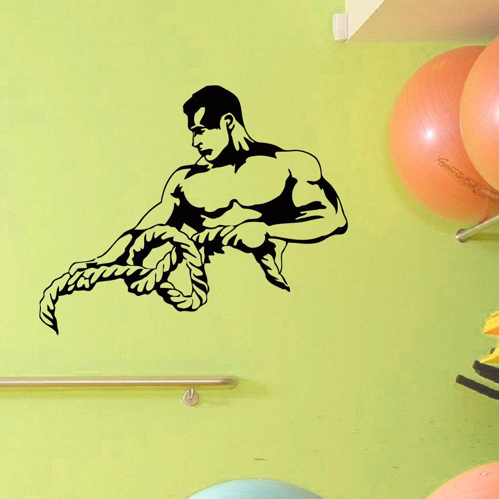 WALL DECAL VINYL STICKER SPORT GYM font b FITNESS b font BODY BUILDING font b BODYBUILDER