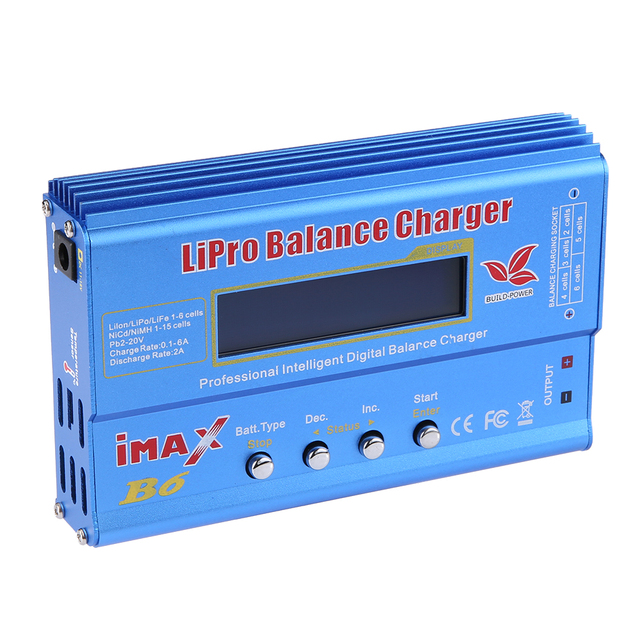 Hot sale Good Quality Build-Power imax B6 Lipro NiMh Li-ion Ni-Cd RC Battery Balance Digital Charger Discharger with LED Screen