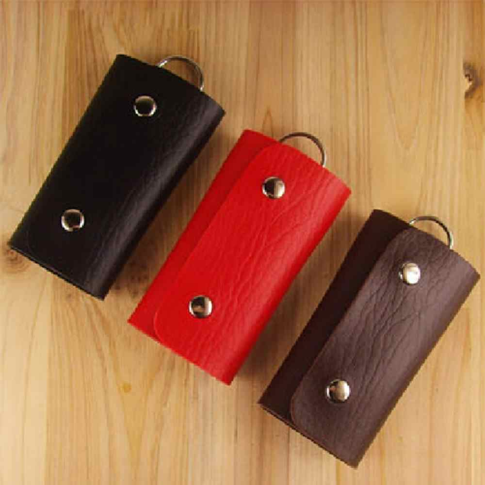 ISKYBOB بو الجلود مدبرة مفتاح أصحاب سيارة المفاتيح مفتاح حامل حالة المحفظة غطاء حقيبة