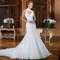 Достойный русалка модель из бисера свадебное платье Vernassa Vestido Novia Casamento винтаж свадебные платья 2015 быстрая доставка