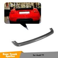 Углеродного волокна для Audi TT 1998 2006 MK1 Тип 8N задний спойлер багажника Wing Boot для губ