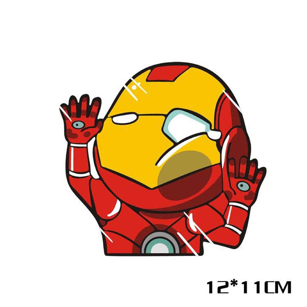 Funny Cartoon Car Sticker Super Hero Hit The Window Decal