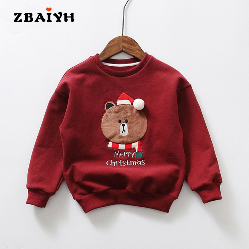 Kids Clothes Sweatshirt For Girls Hoodie For Boy Parent-child Family Suits Velvet Thicken Pullovers Christmas Gift Baby Costume