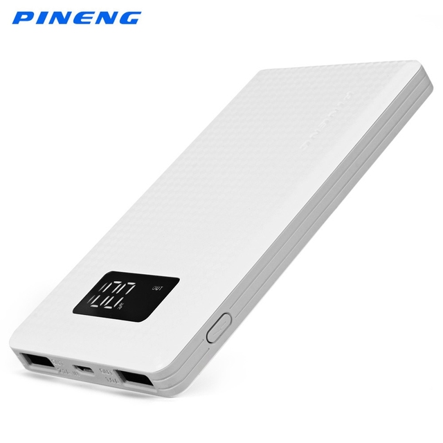 Оригинал Pineng PN-960 6000 мАч Dual USB 2.1A 1A внешний мобильный Батарея Зарядное устройство пакет Мобильные аккумуляторы ЖК-дисплей Дисплей Pineng PN-960
