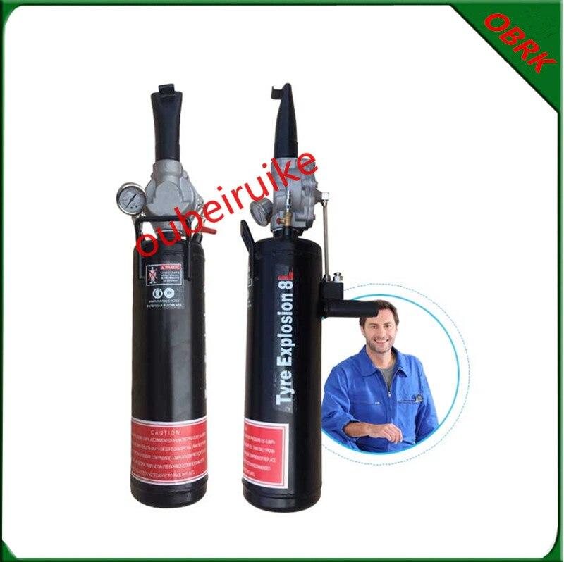 ФОТО Min Car Vacuum Tire High Pressur Inflatable Tank 8L Pistol Tyre Explosion Rapid Handheld Vacuum Tyre Sealer