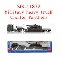1 87 Alloy Military Model SIKU 1872 Heavy Truck Trailer Panthers High Metal Casting Simulation Pull