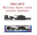 1 : 87 modelo militar aleación, SIKU 1872 pesado remolque panthers, alta simulación de fundición de metal tire hacia atrás los juguetes, envío gratis