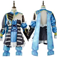 Cosplay Bloodstained Ritual of the Night Miriam Cosplay Costume Suit Outfit Blue Adult Dress Halloween Party Cosplay Costume