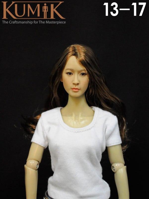 """Kimi Toys KT006 Noir Cheveux asiatique femelle échelle 1//6 Head Sculpt F 12/"""" Figure Body"""