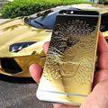 Para iphone 6 6 plus 24 k plateó limited batería cubierta de la contraportada del leopardo de alta calidad nueva