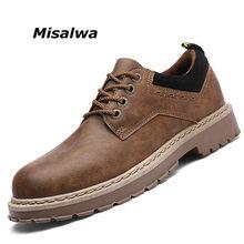 726769a5d Misalwa Oxford Sapatos de Trabalho Dos Homens de Estilo Britânico Do Vintage  Clássico Lazer Sapatos de