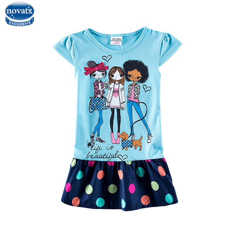 novatx H7115 new arrival baby girl dresses kids wear party floral dresses gilrs dresses summer kids girl dress hot selling novatx h5603 retail baby girl cloth 2016 new arrival carton long sleeves baby kids girl children dress for beautiful party