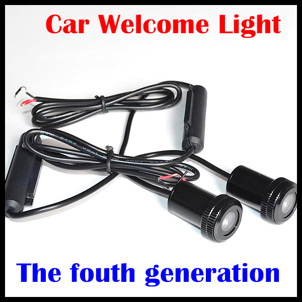 wholesale  Newest 7W LED Welcome Lights the fourth car door welcome lights hotest led car logo door light ghost shadow light
