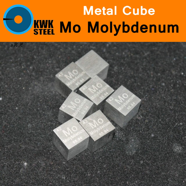 Mo Molybdenum Cube Block Plate Sheet High Pure 99.95% Square Cut Metal Elements for Research Study University