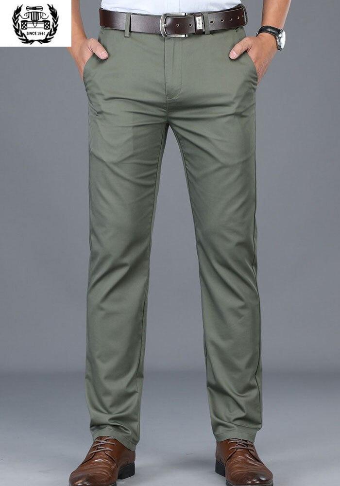2019 Sommer Kleidung Herren Anzug Hosen Cargo Military Herren Armee Kleid Hosen Slim Fit Hohe Qualität Baumwolle Anzug Hosen Hosen Mann