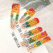 Ubuhle 1Pc Fashion Women Hair Clips Colorful Acrylic Ball Hairpins Girls Accessories Cute Bride Headwear Jewelry