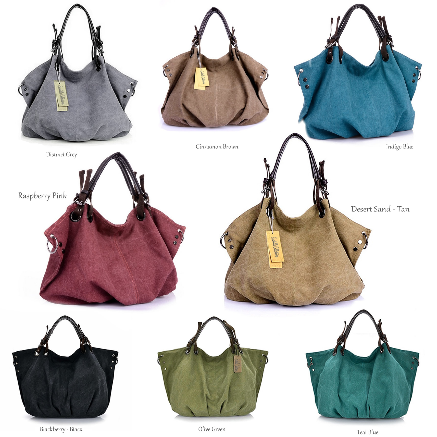 Journey Collection Canvas Handbag In 8 Colors (2)