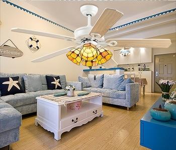 Nordic Fan Light Living Room Retro with Fan  Restaurant Electric Fan Study European Style with Ceiling Fan