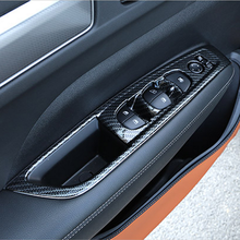 For Renault Koleos 2017 2018 ABS Carbon Car Door and window glass lifting switch Cover Trim Car Styling Accessories sktoo for kia sportage r window lifter switch assembly with the mirror fold the left front door glass levelers switch with high