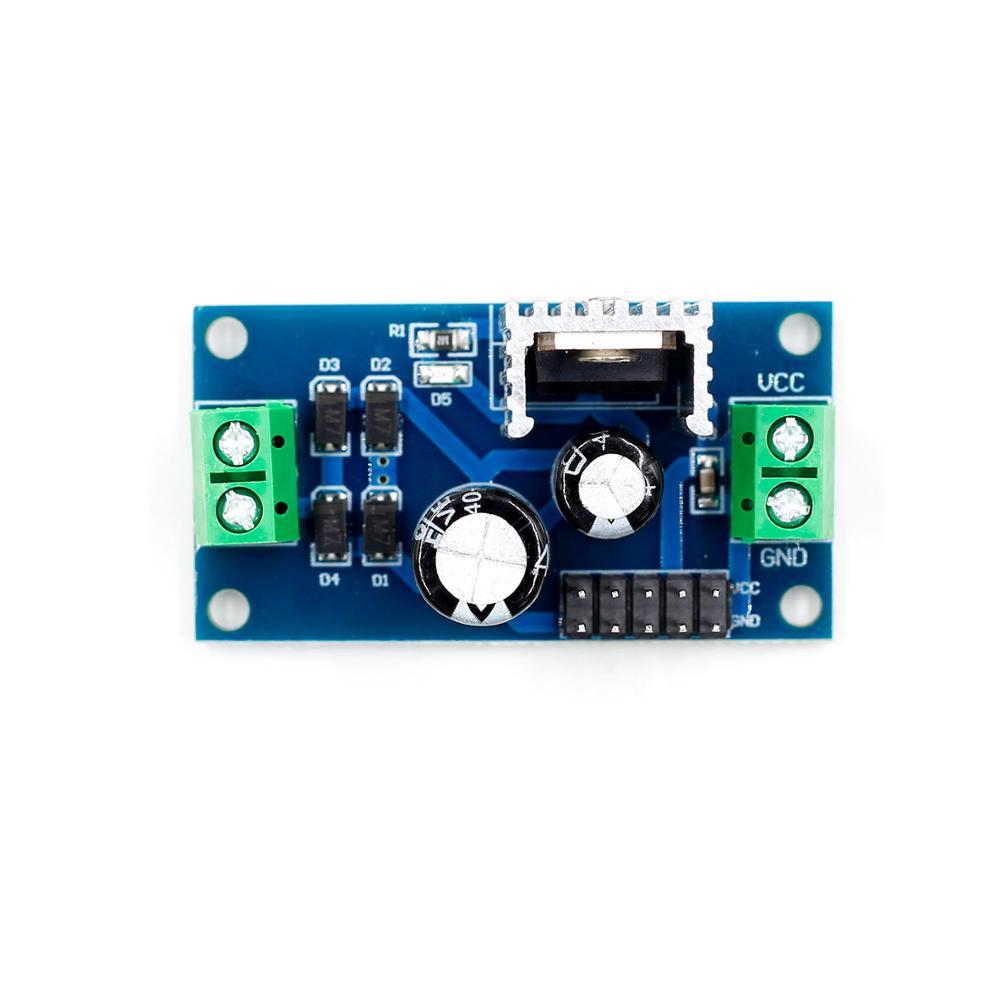 Tensi/ón L7812 LM7812 Tres terminales del regulador 12V M/ódulo de alimentaci/ón regulada de 12 V M/ódulo M/ódulo Regulador