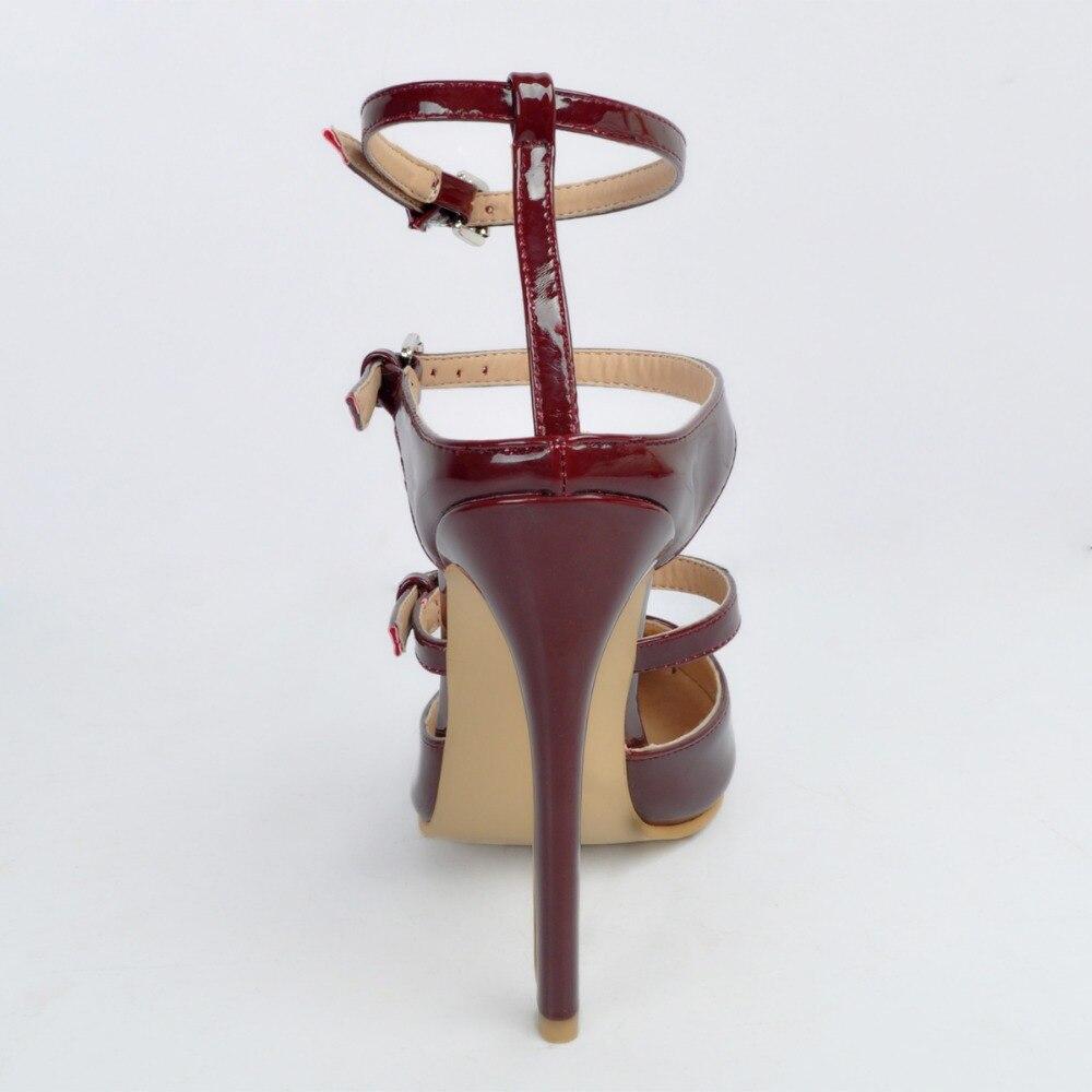 Rouge Femme Nous Vin 4 Nouveau Talons Mince Chaussures Initiale Femmes Bout Pompes Grâce Taille Pointu Belle Populaire Xd013 15 Plus L'intention 1g6AfWx