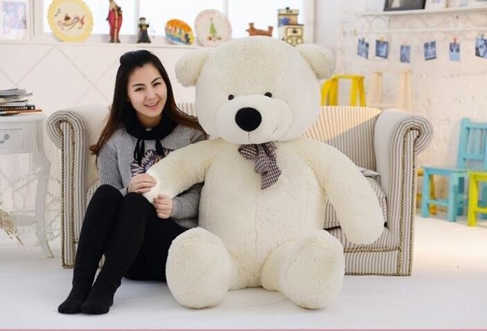 Gros 120 CM doux PP coton peluche ours jouet géant brun ours en peluche jouets enfants poupées poupée copines cadeaux de noël