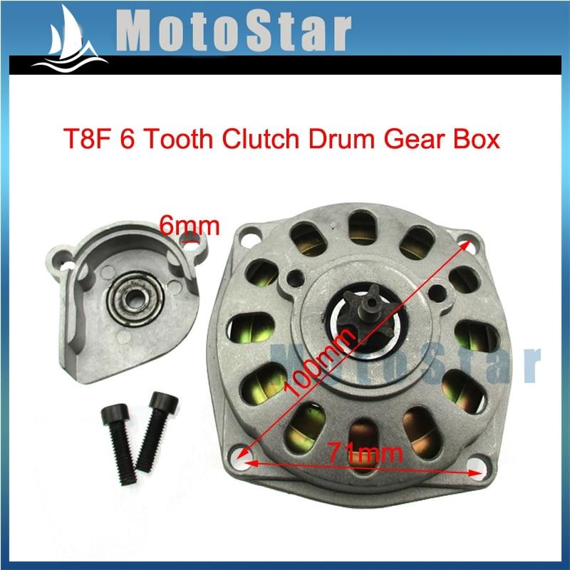 STONEDER T8F 17 Tooth Front Clutch Drum Gear Box Pinion Chain Sprocket Gear For 2 Stroke 47cc 49cc Mini Moto Dirt Bike Crosser