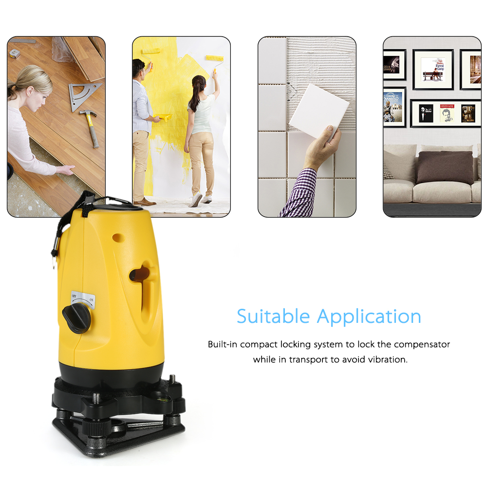 Household construction tools 2 Lines Cross 360 degree laser level Line Self Leveling Vertical Horizontal Line Adjustable Height