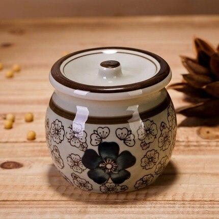 Sel de sucre assaisonnement canettes en céramique glaçure antique costume créatif main japonaise