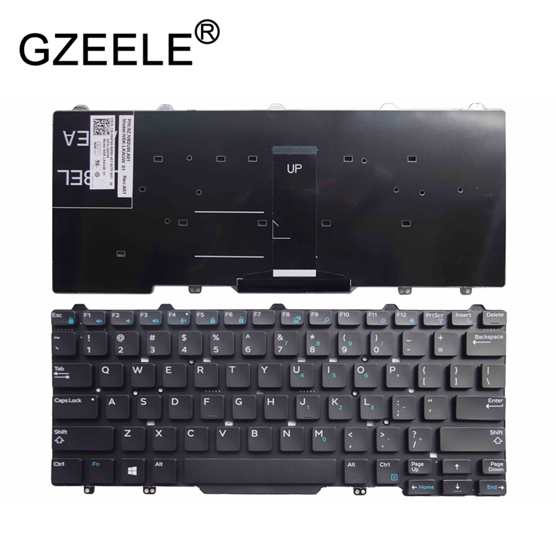 GZEELE New English Laptop Keyboard For Dell Latitude 3340 E3340 E5450 E7450 US Version Without Frame 9Z.NB2UC.A01