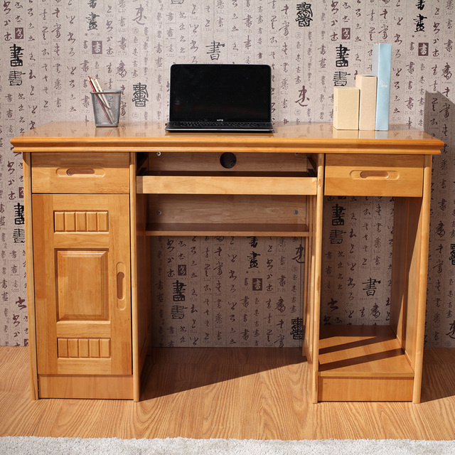 Table Two Meters Of Solid Wood Computer Desk Home About Fashion Student Oak Doors With Drawers