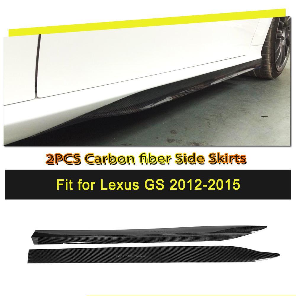 Carro-styling Fibra De Carbono/FRP Lado Saias Corpo Kits de Extensão Avental para Lexus GS F Sport 2012- 2015