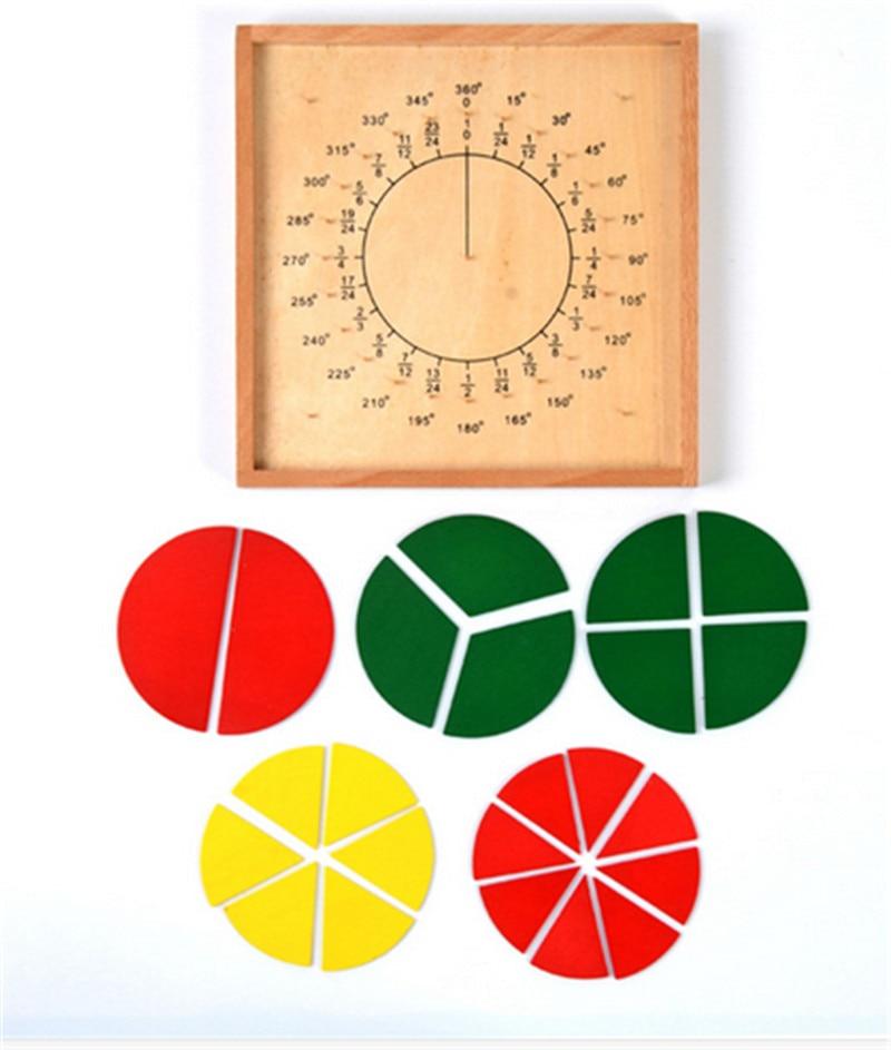 Нові дерев'яні іграшки дитини Монтессорі Навчальна програма математики розділення фракцій Навчальна допомога дерев'яні дошки освіти дошкільного дитини Безкоштовна доставка