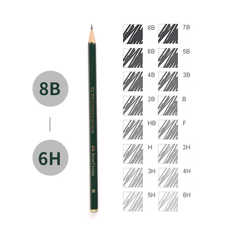 faber castell 16pcs drawing pencil 8b 7b 6b 5b 4b 3b 2b b hb f h 2h 3h 4h 5h 6h standard pencils for school sketch pencil set in standard pencils from