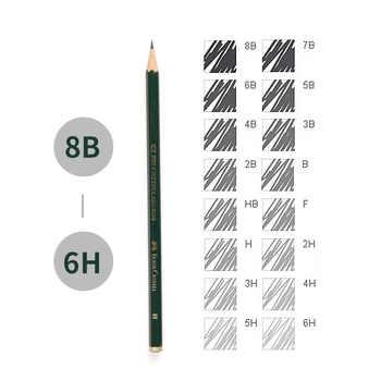Faber Castell 16Pcs Drawing Pencil 8B 7B 6B 5B 4B 3B 2B B HB F H 2H 3H 4H 5H 6H Standard Pencils for School Sketch Pencil Set