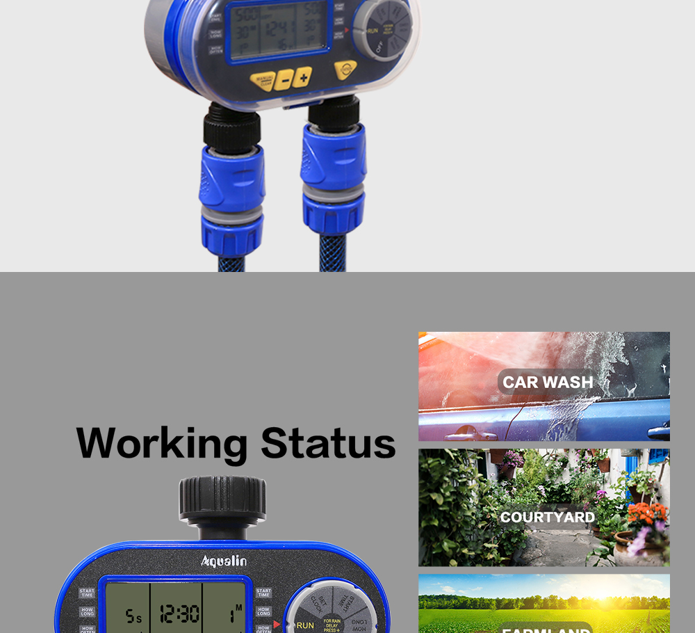 HTB1FSuCaOHrK1Rjy0Flq6AsaFXau New Arrival Two Outlet Garden Digital Electronic Water Timer Solenoid Valve Garden Irrigation Controller for Garden,Yard#21060