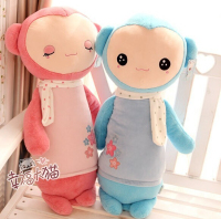 Super 65cm Cute Cartoon Lovers MONKEY Plush Toy Doll Size Large Pillow Cushion Birthday Gift Free