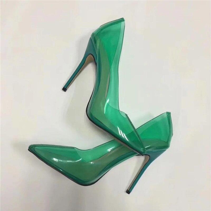 Chaussures Couleur Talons Bout Profonde Hauts De Aiguilles