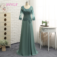 Plus Size Green 2019 Mother Of The Bride Dresses A line V neck Chiffon Lace Wedding Party Dress Mother Dresses For Wedding